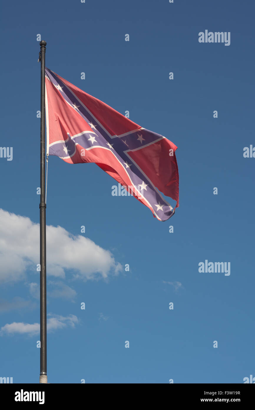Confederate Flag As Symbol Of The American Civil War Stock Photo