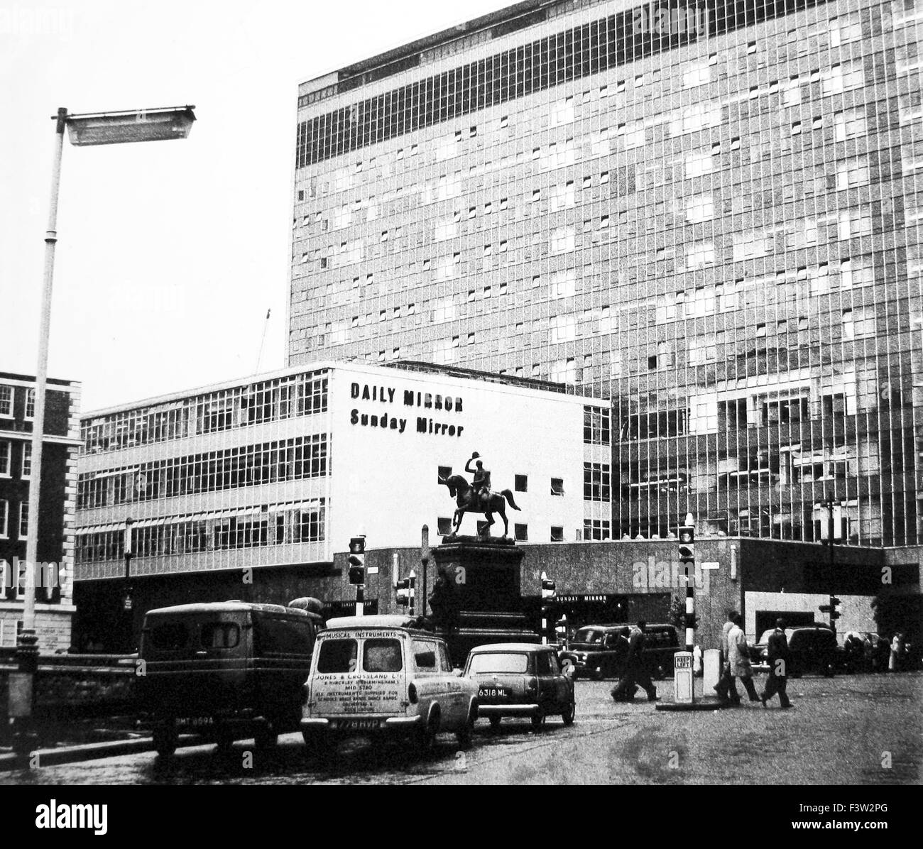 Daily Mirror HQ Holborn Circus London - probably 1960s - Stock Image