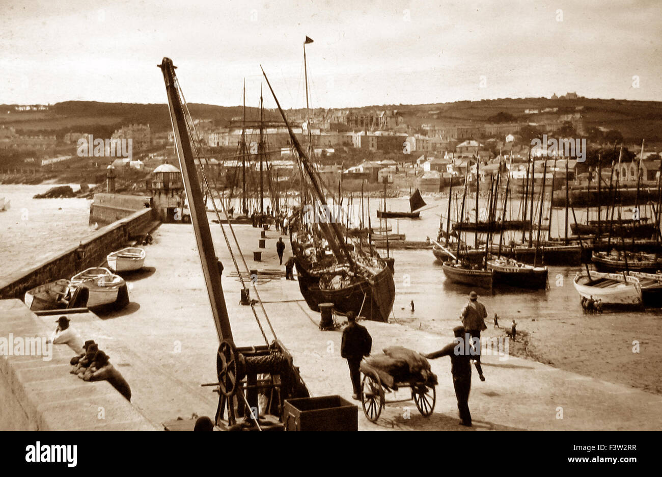 St. Ives Cornwall - early 1900s - Stock Image