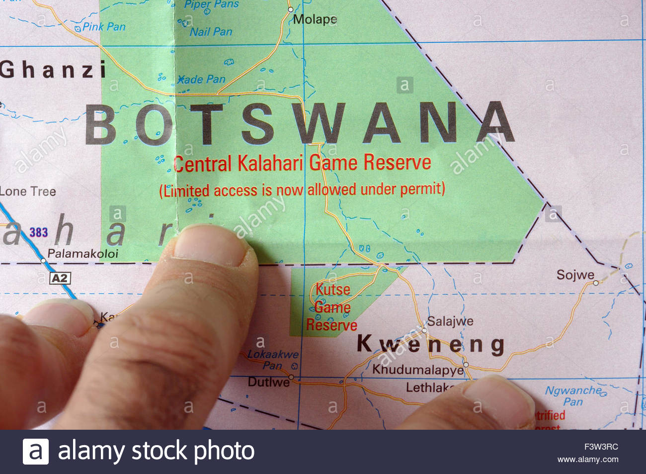 Map Of Southern Africa Africa Botswana Central Kalahari Game