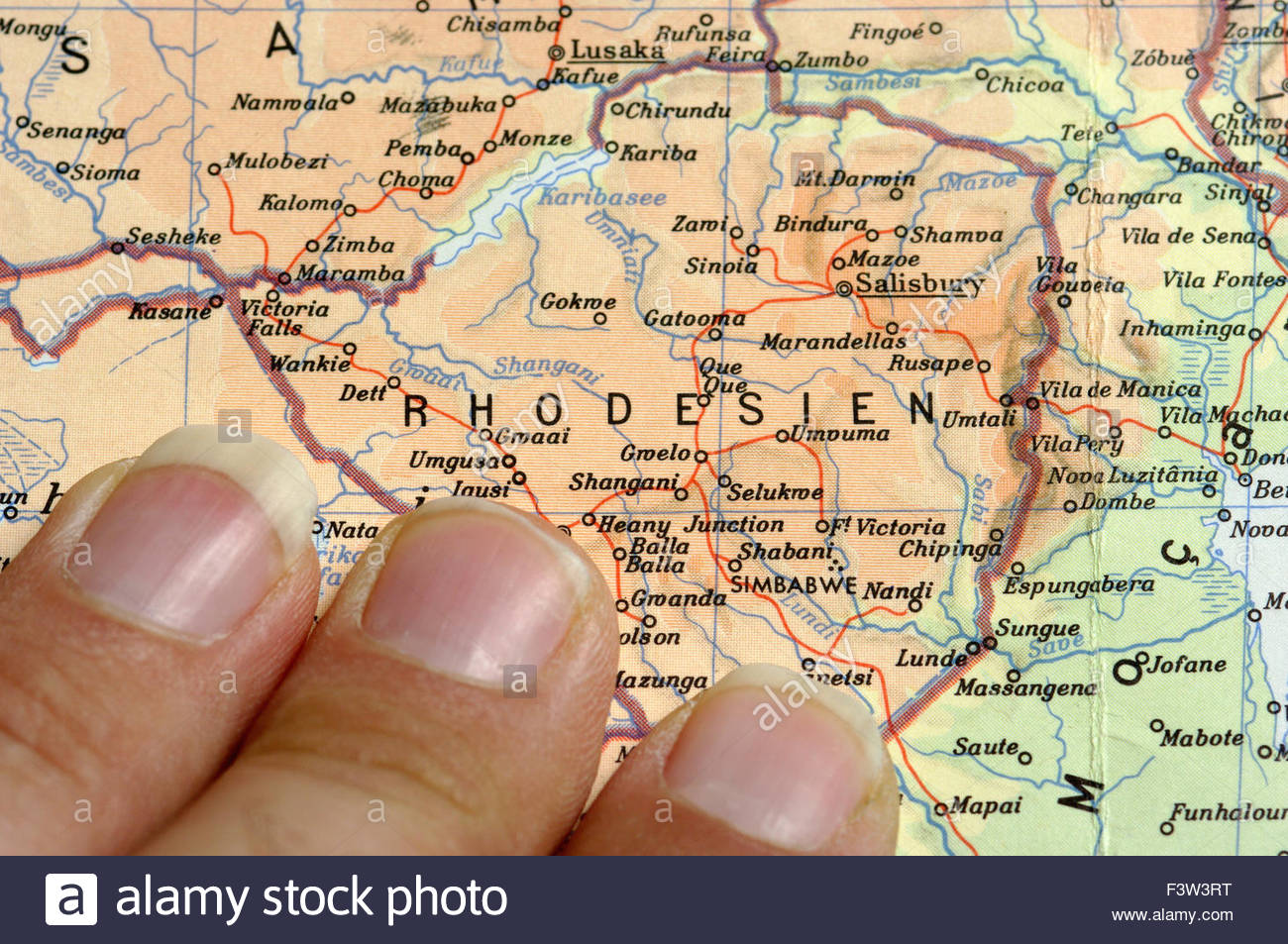 Map Of SouthernAfrica Africa Zimbabwe Stock Photo 88447628 Alamy