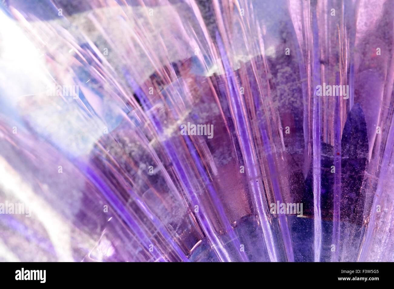 Cracked glass background - Stock Image