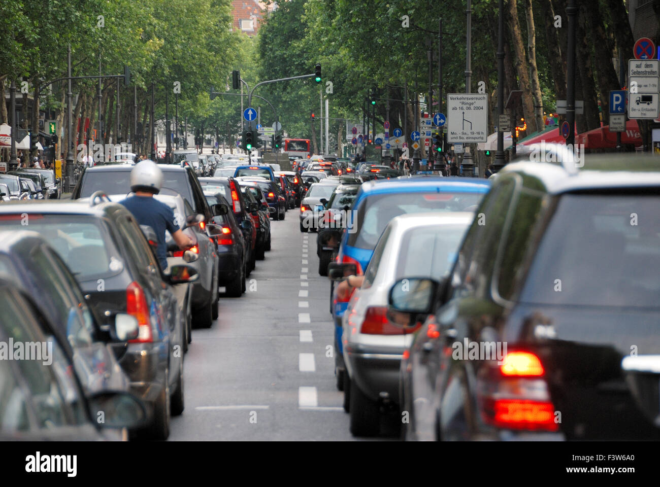 Congestion in the city Stock Photo