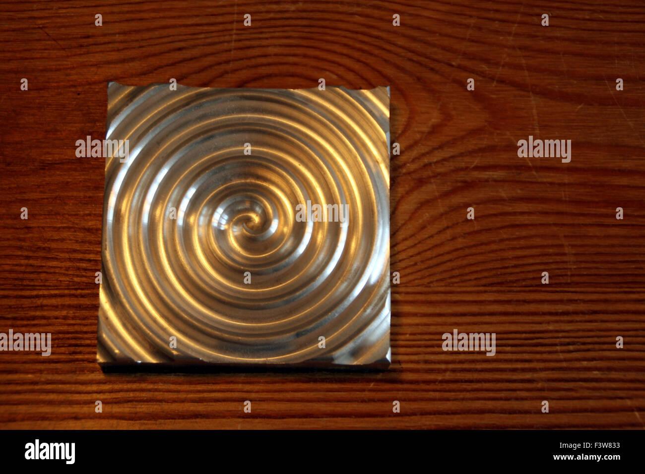aluminium circle Stock Photo