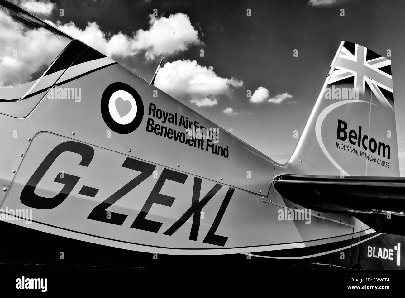 The Blades aerobatic team - Blade One - Extra Flugzeugbau E300 - Stock Image