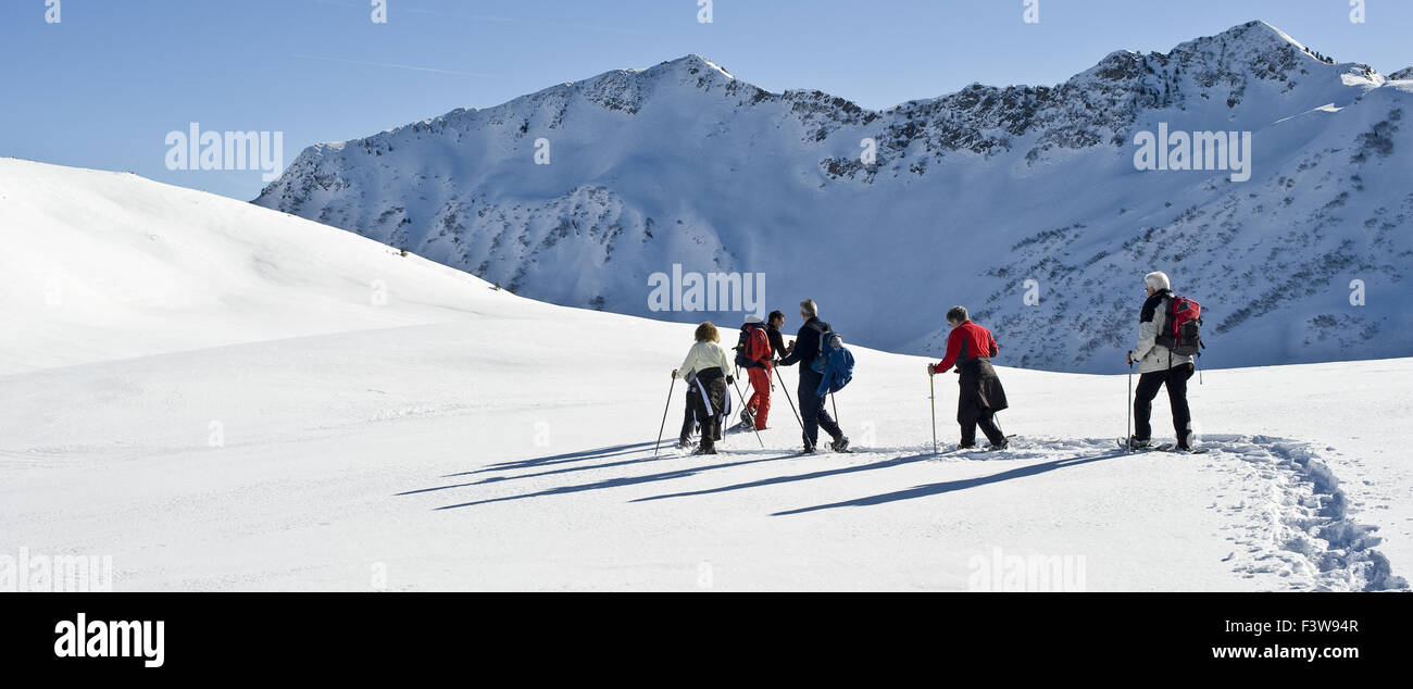 Snowshoe Tour - Stock Image