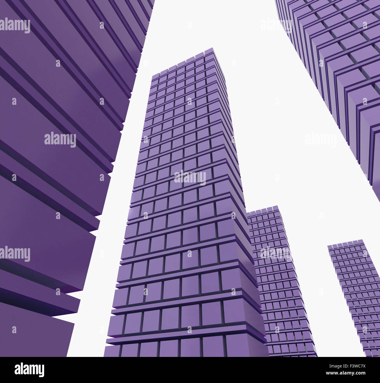 Three-dimensional city - Stock Image