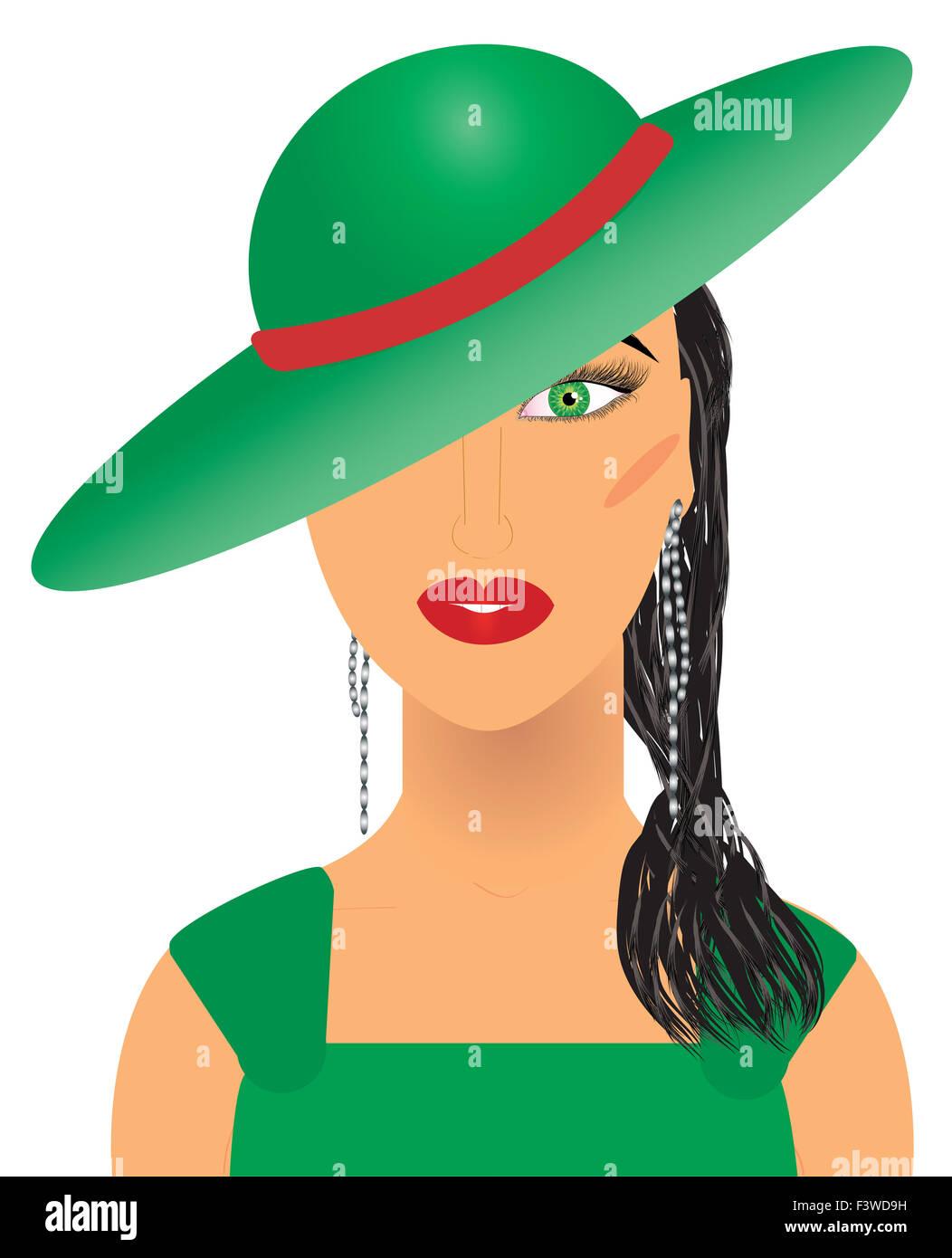 Aristocratic woman - Stock Image