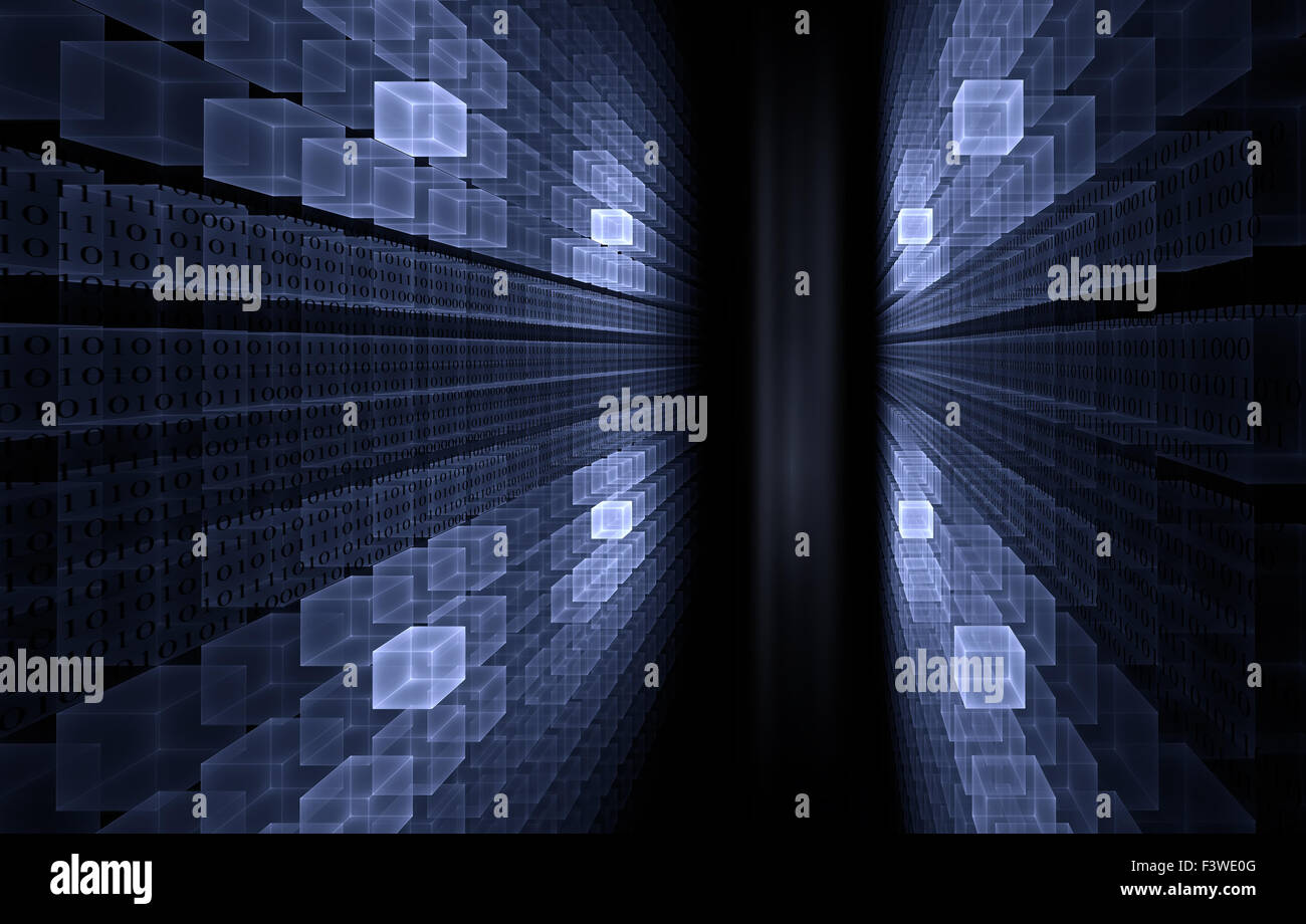 Internet concept - binary code - Stock Image