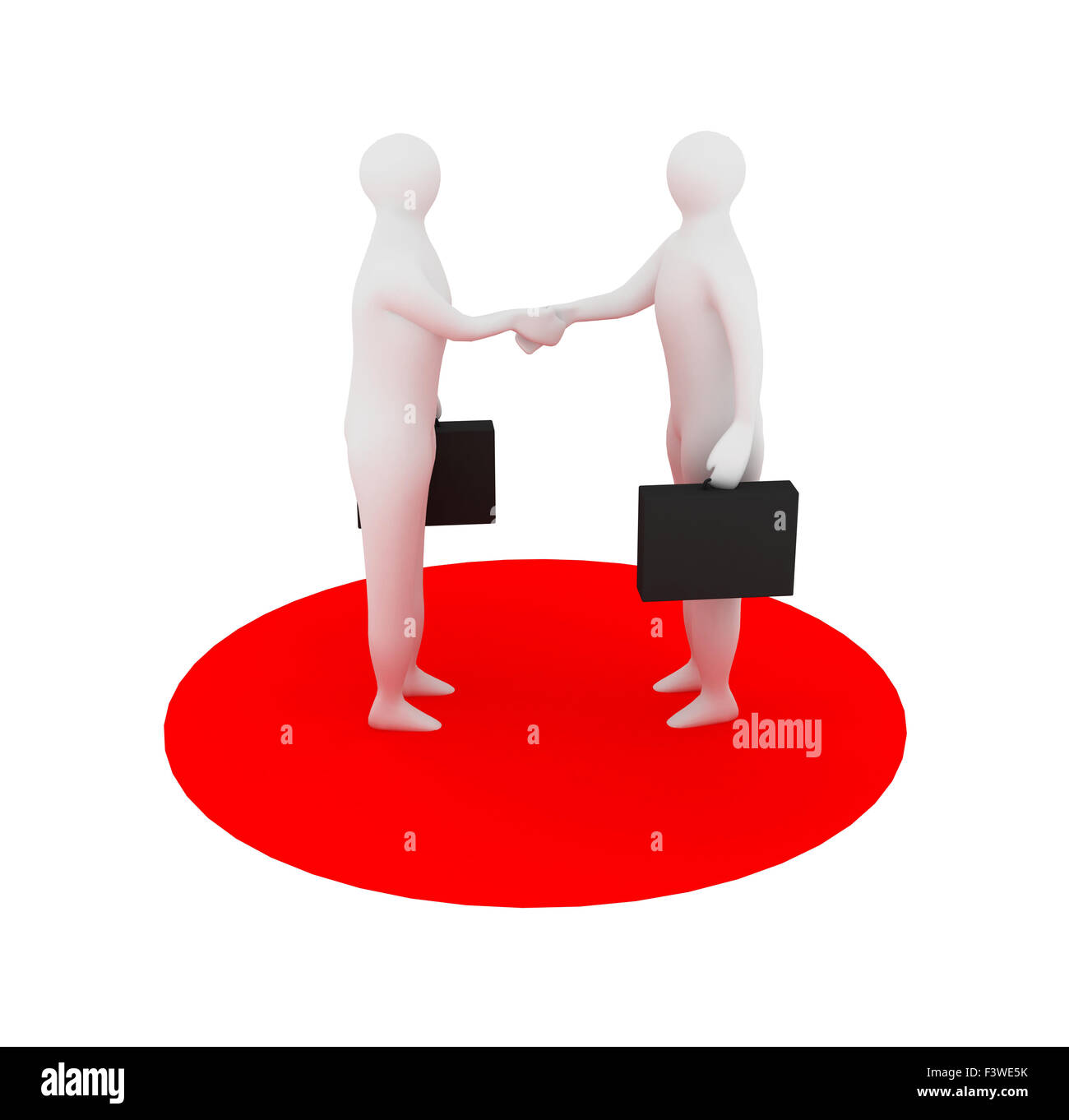 3d business person over white - Stock Image
