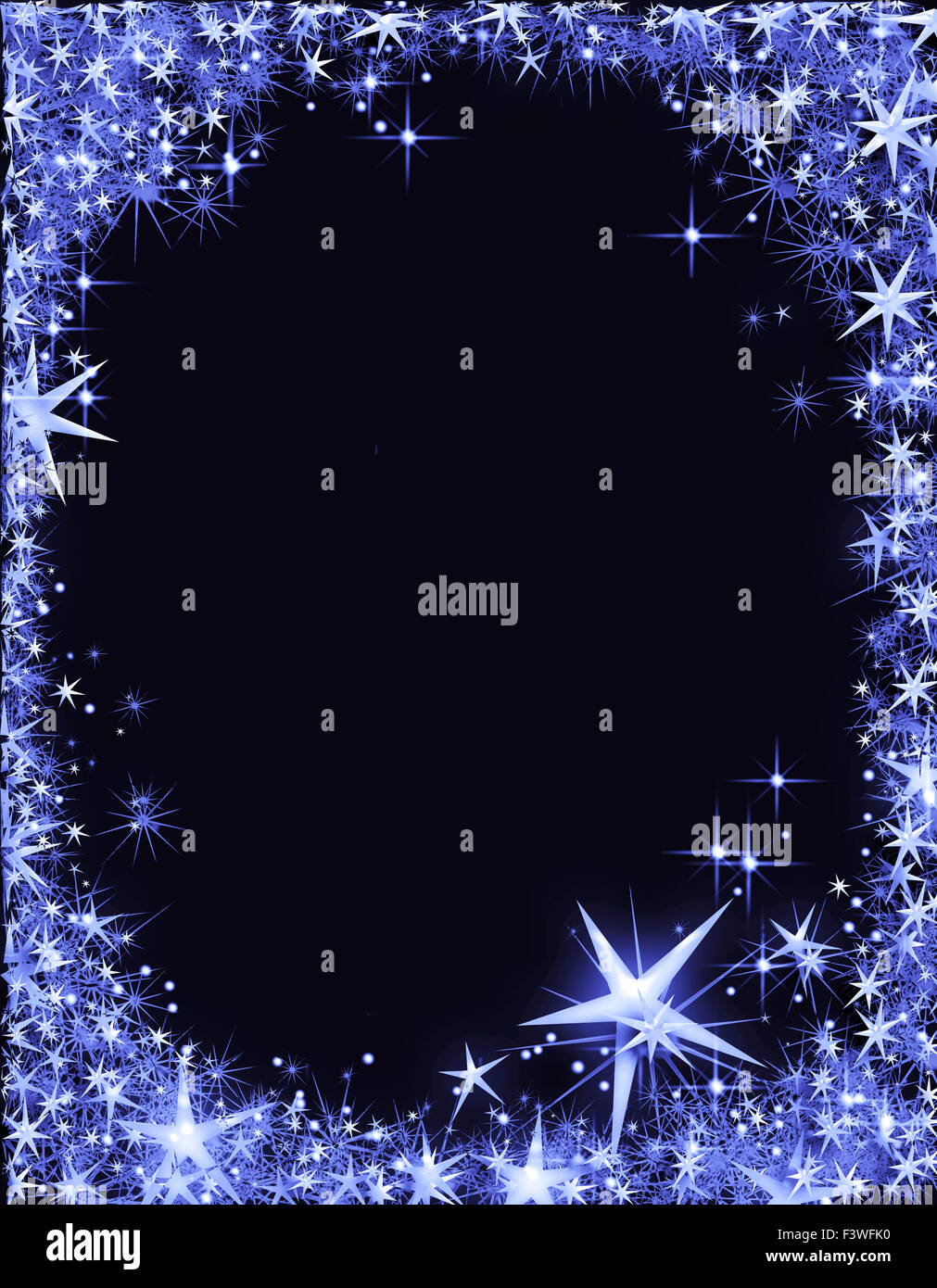 New Years Eve Frame With Stars Stock Photo 88456900 Alamy