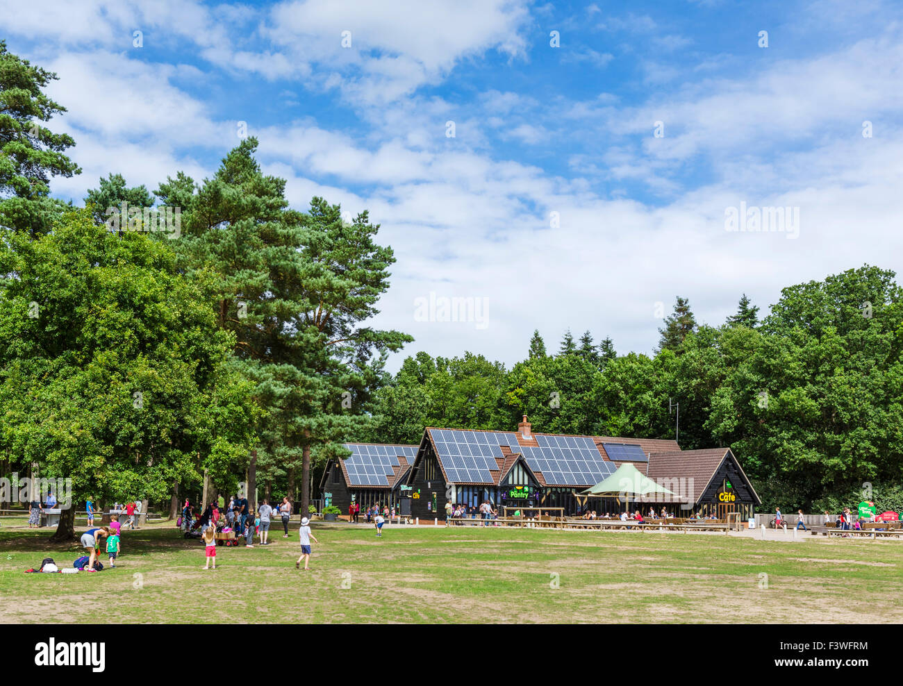 High Lodge Visitors Centre in Thetford Forest, Norfolk, England, UK - Stock Image