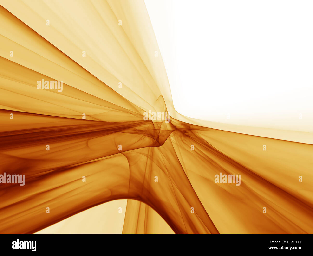 dynamic golden motion, flowing energy - Stock Image