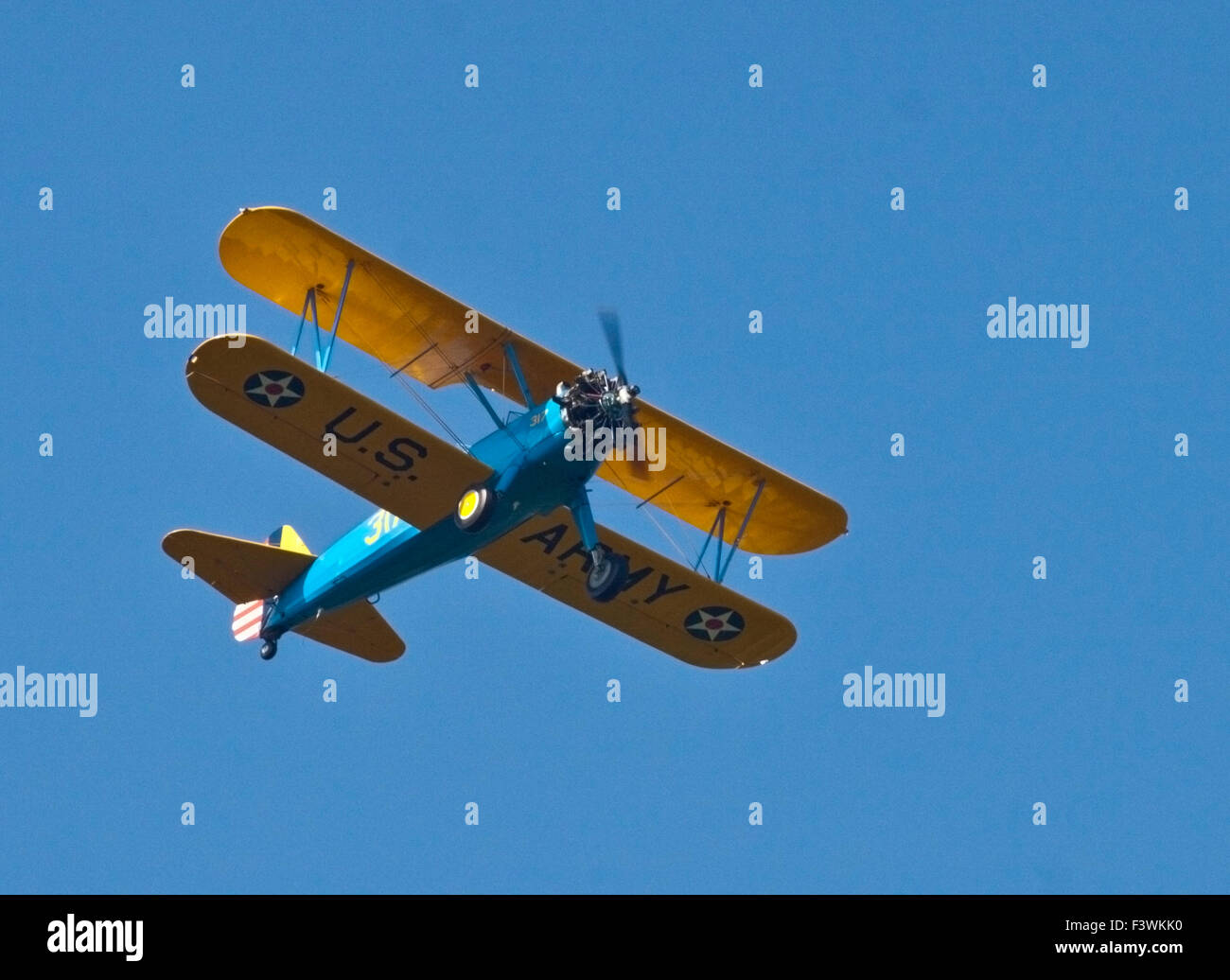 US Army Biplane, UK - Stock Image
