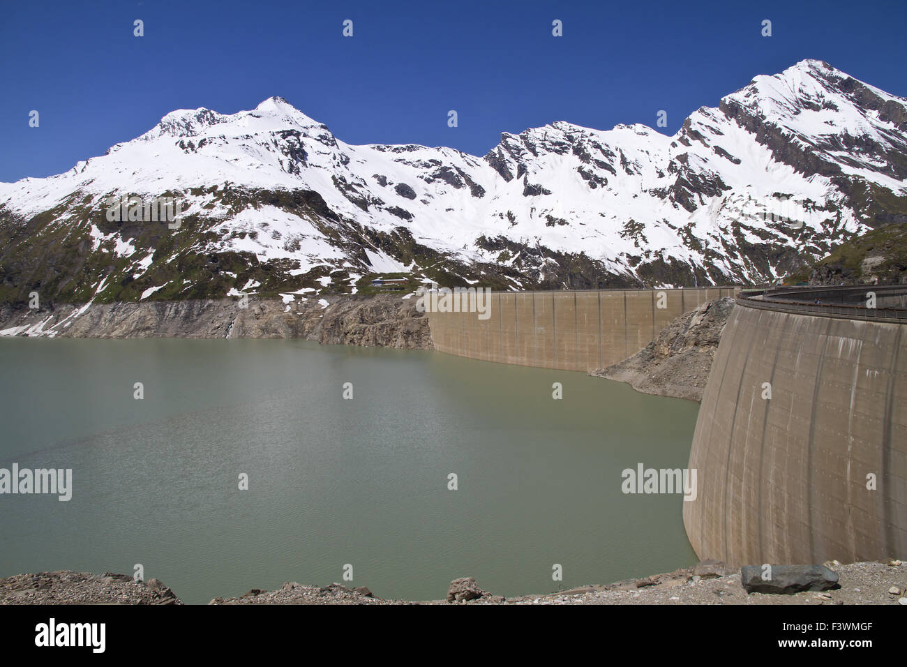 Mooserboden reservoir in Kaprun, Austria Stock Photo
