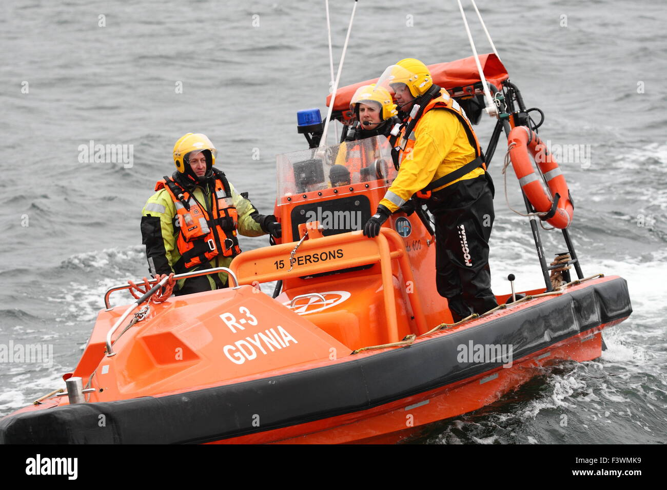 Gdynia / Baltic Sea, Poland 13th, Oct. 2015 The Sarex/Renegade 2015 Military search and rescue exercise. Polish - Stock Image