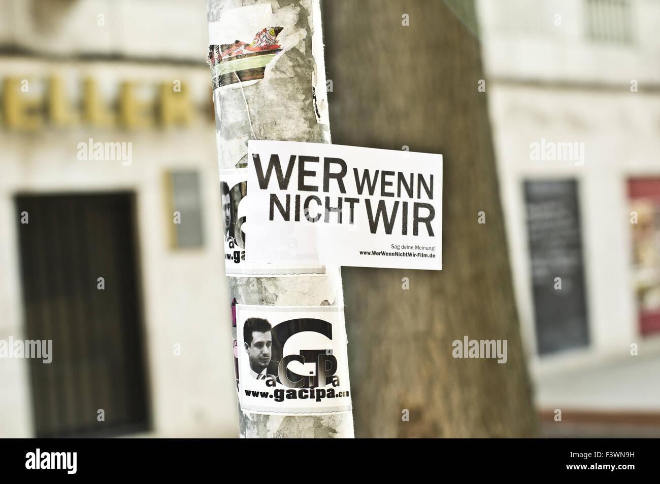 wer wenn nicht wir, movie by andreas veiel - Stock Image