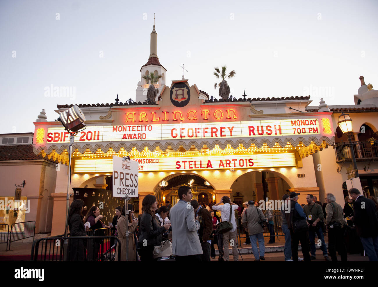 geoffrey rush headlines at arlington theatre - Stock Image