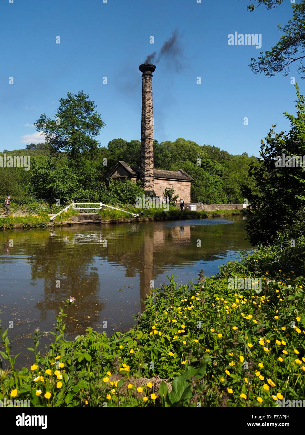 Leawood pump house on the Cromford canal in the Peak District Derbyshire England Stock Photo