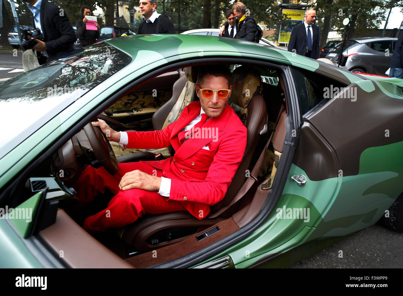 Lapo Elkann at the opening of the new headquarters of Garage Italia Customs in Milan, Italy, on Wednesday October - Stock Image