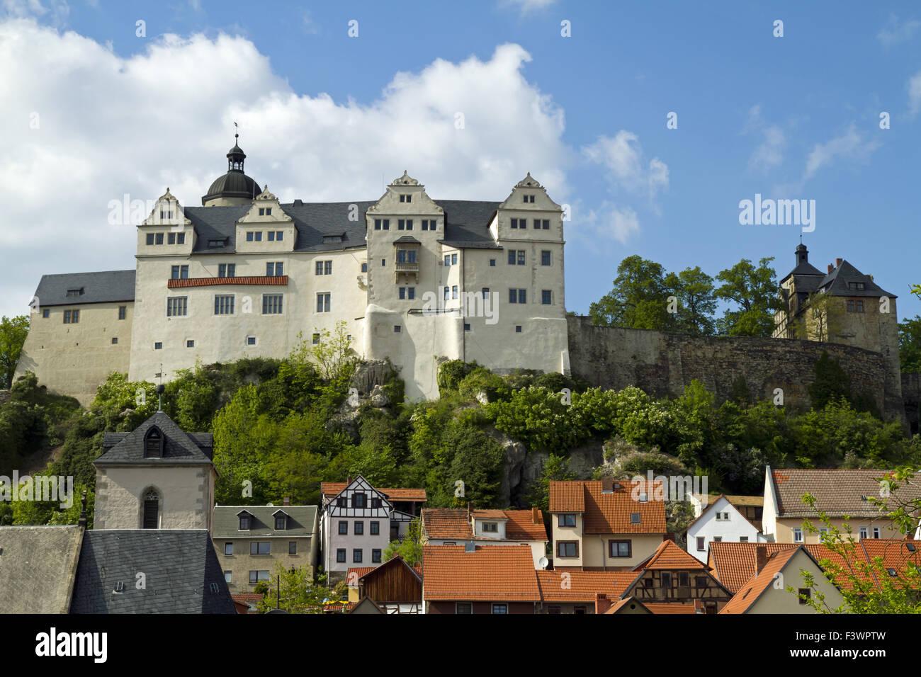Ranis Castle, Thuringia, Germany - Stock Image