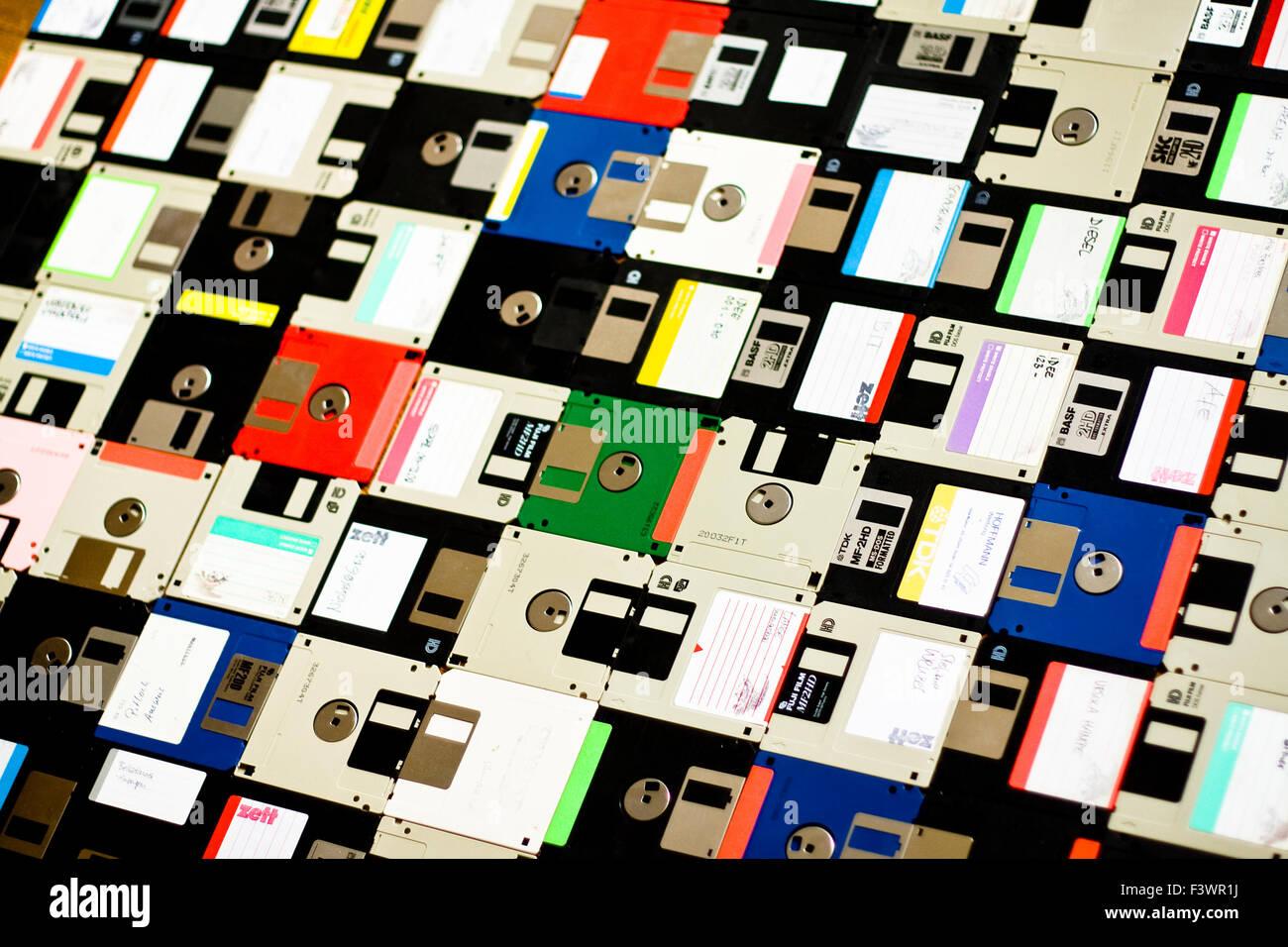 diskette, floppy disc Stock Photo