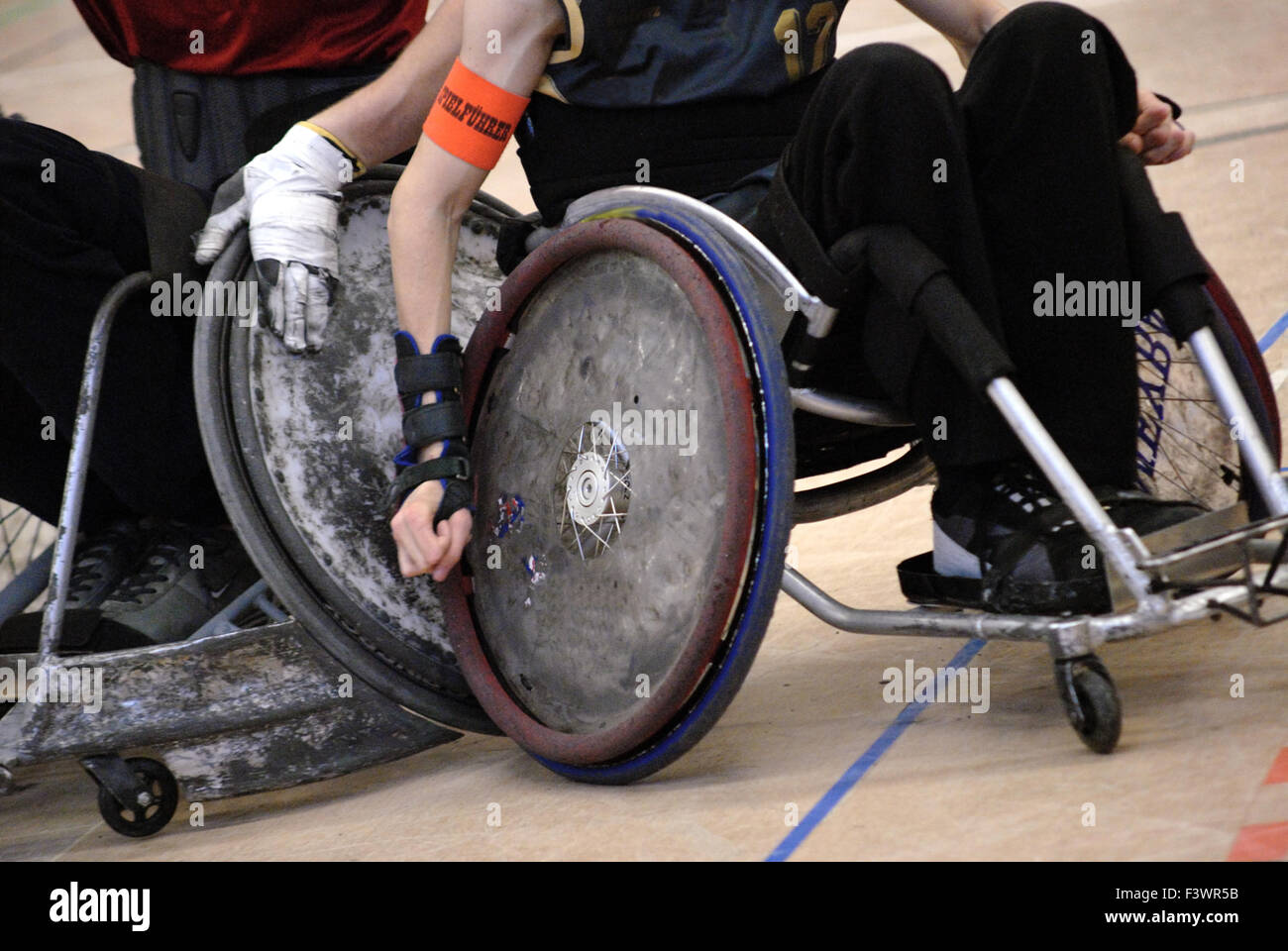 rugby with wheelchair - Stock Image