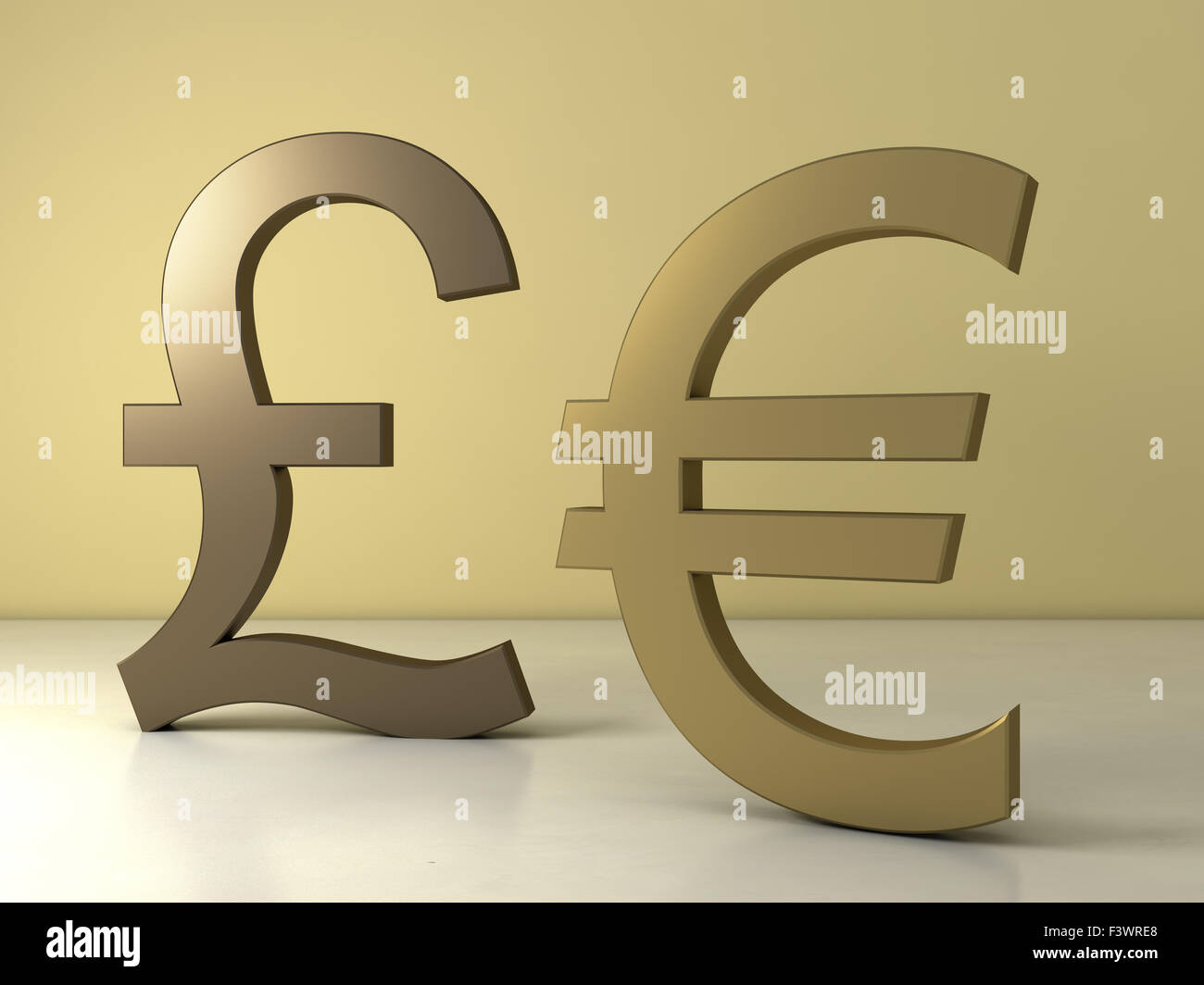 Euro And Pound Sterling Sign Stock Photo 88463040 Alamy