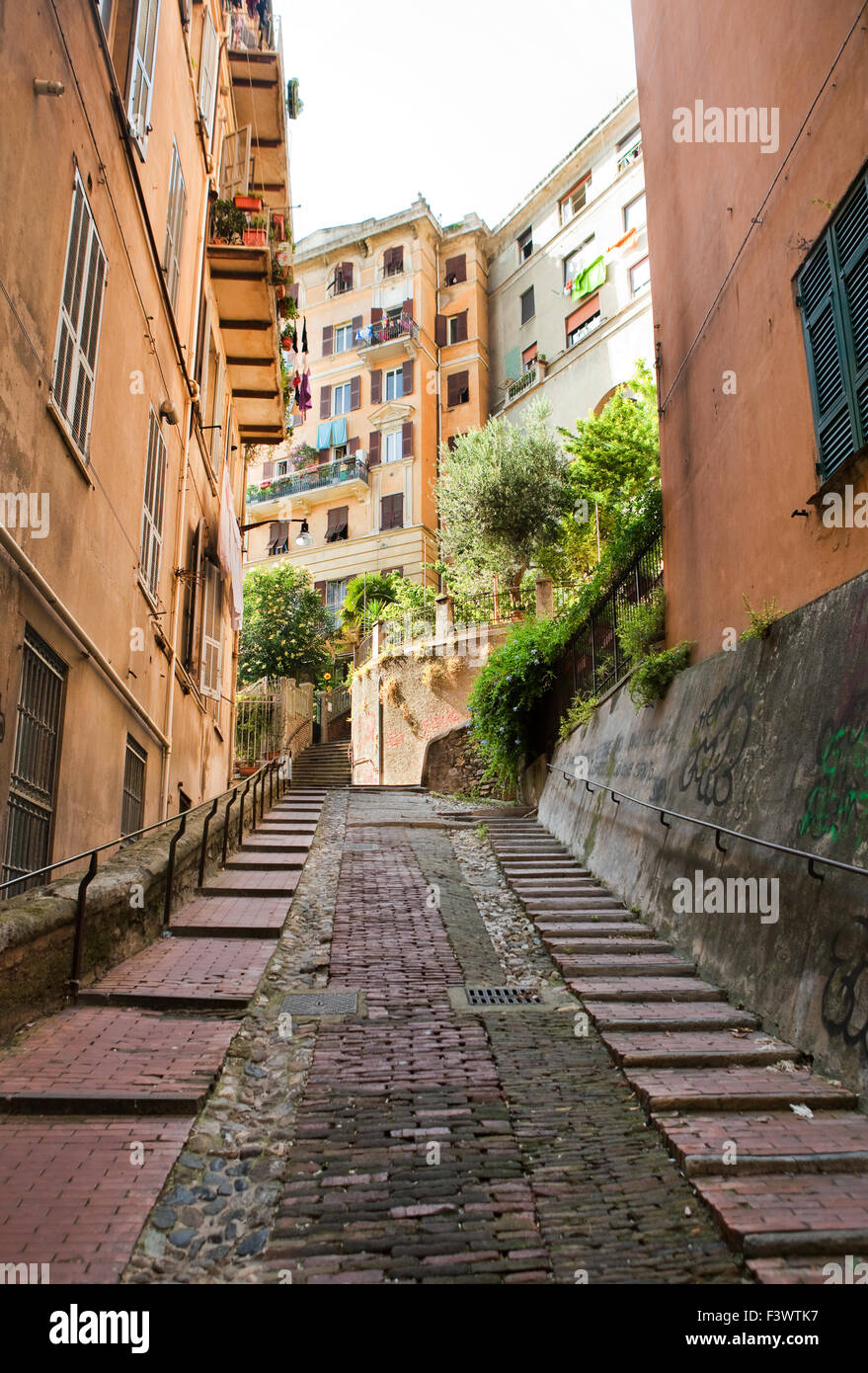 Streets in Genoa - Stock Image