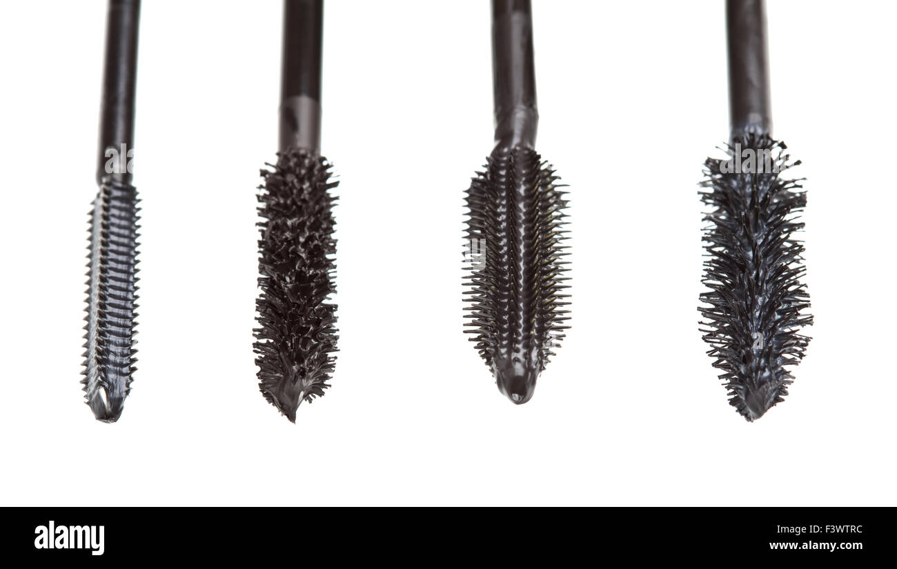 macro mascara Brushes - Stock Image