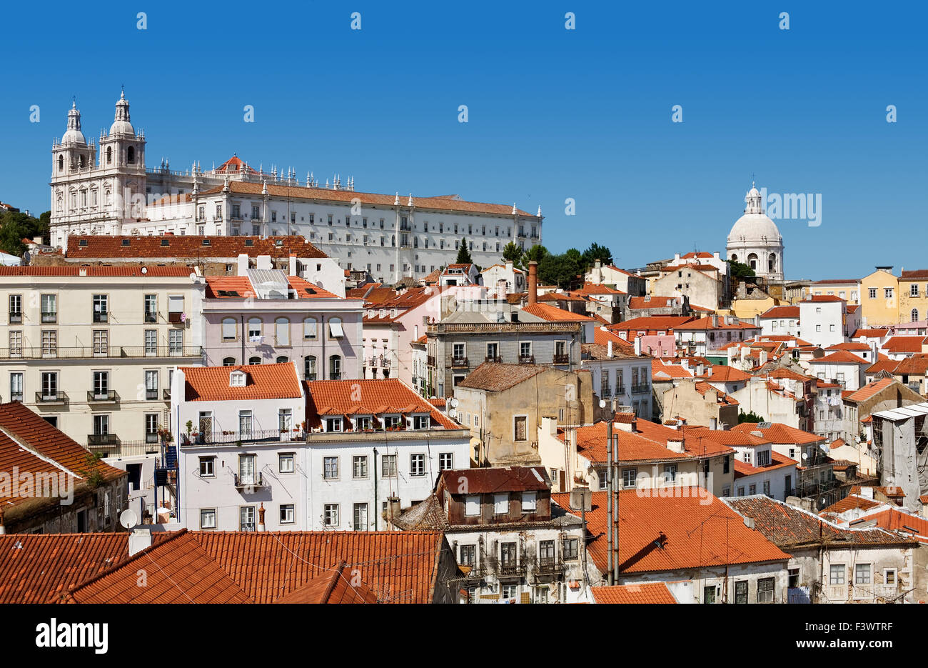 Alfama, old part of Lisbon - Stock Image