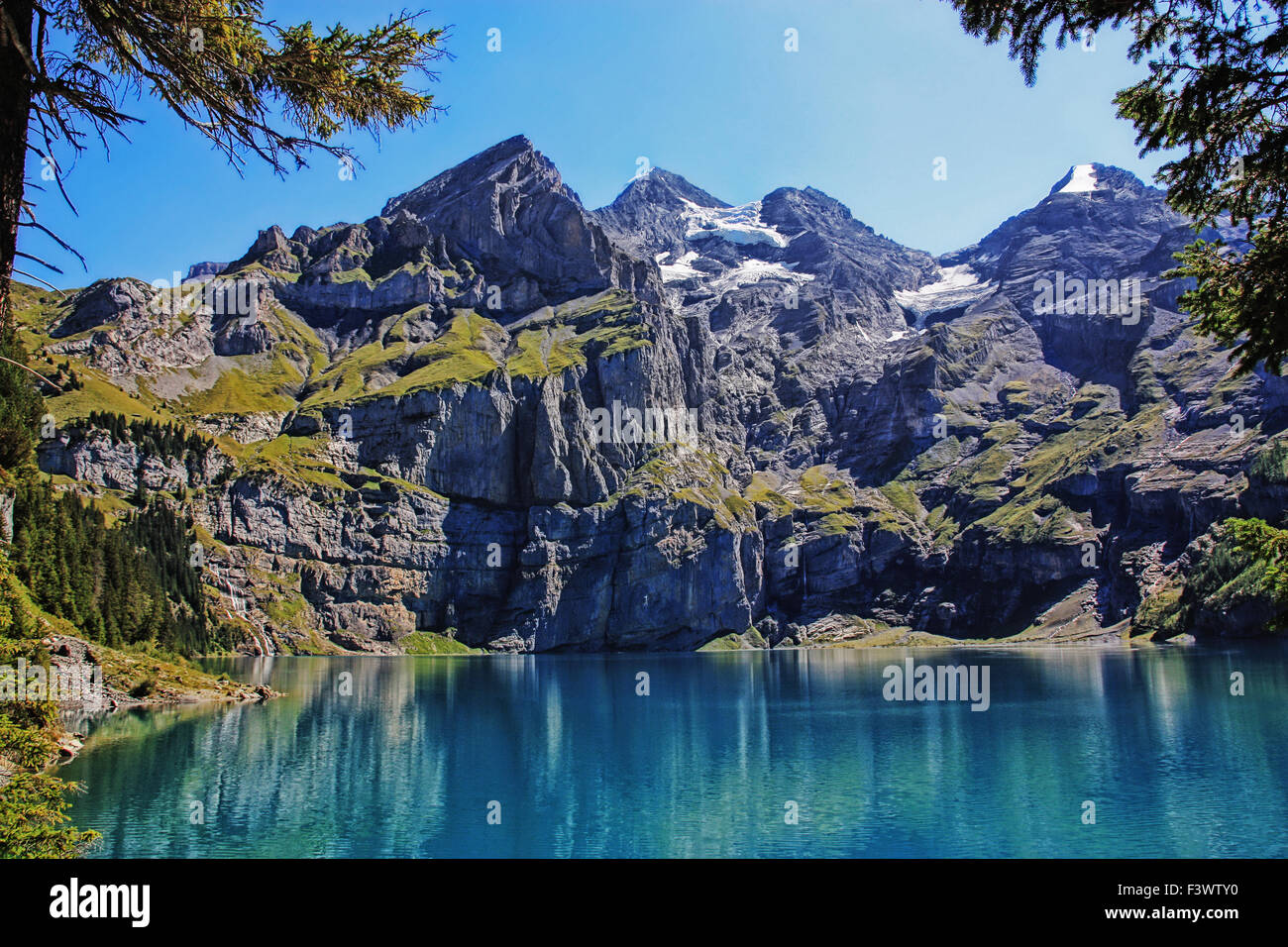 swiss alps - Stock Image