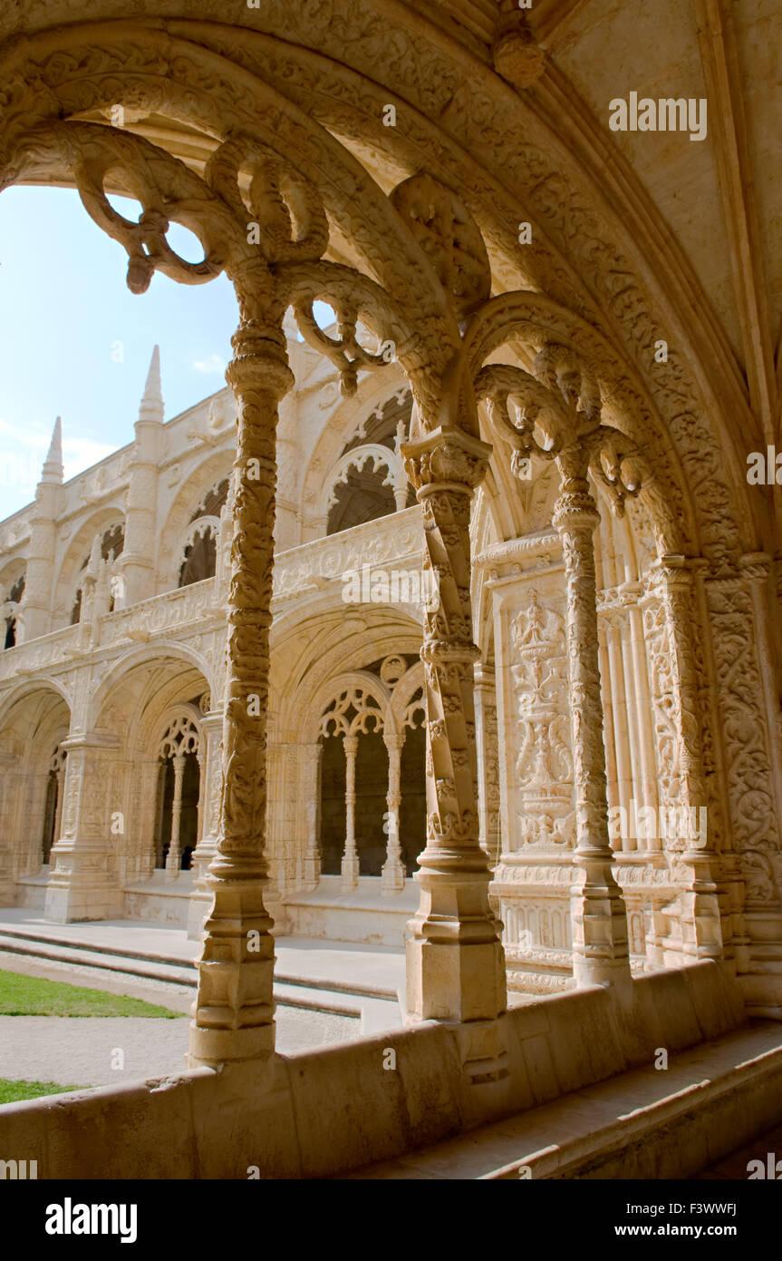 Interior view of the Mosteiro Dos Jeronimos - Stock Image