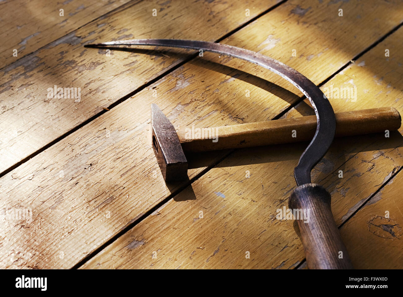 Sickle and hammer - Stock Image