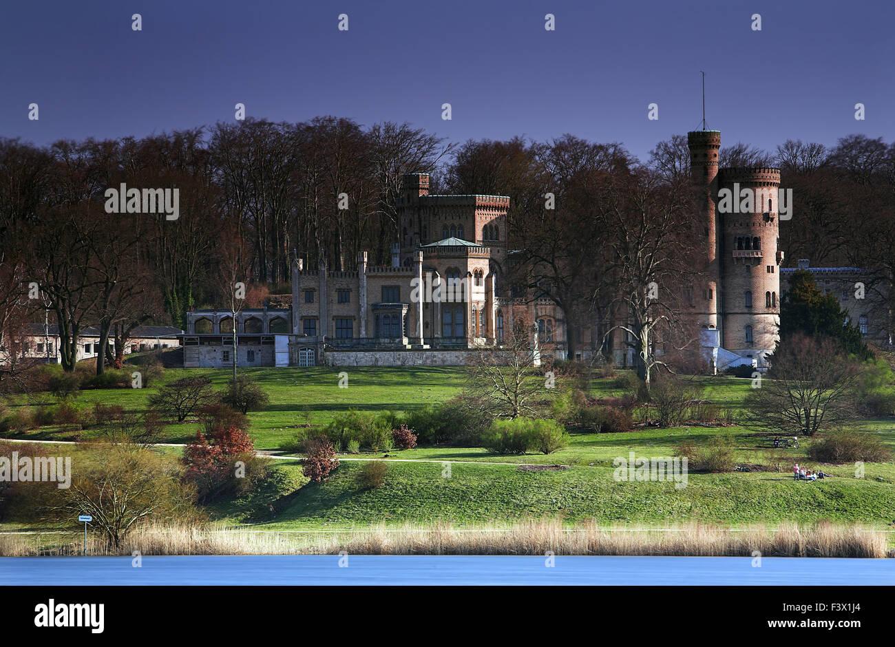 castle Babelsberg Spring Stock Photo