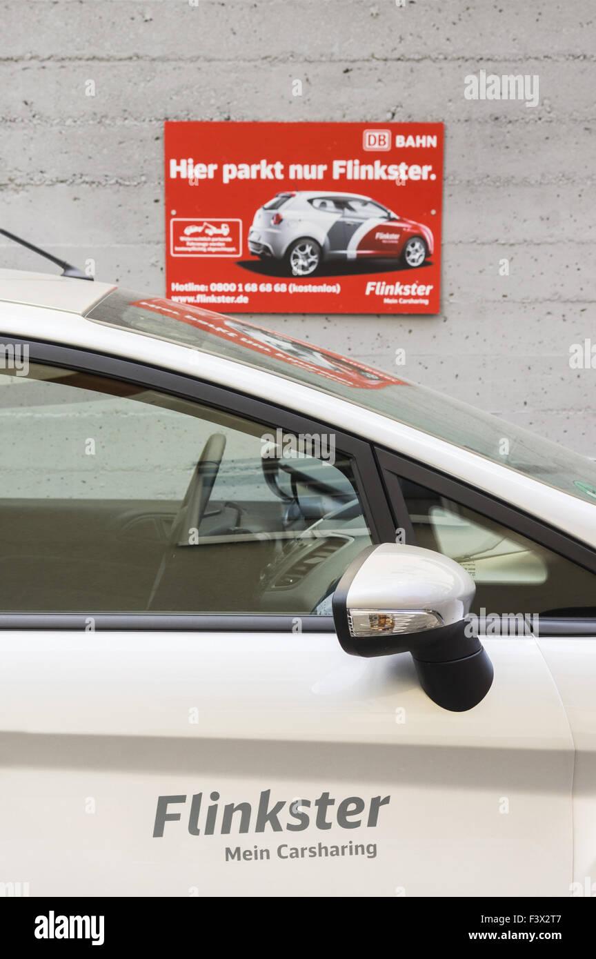 db flinkster, carsharing Stock Photo