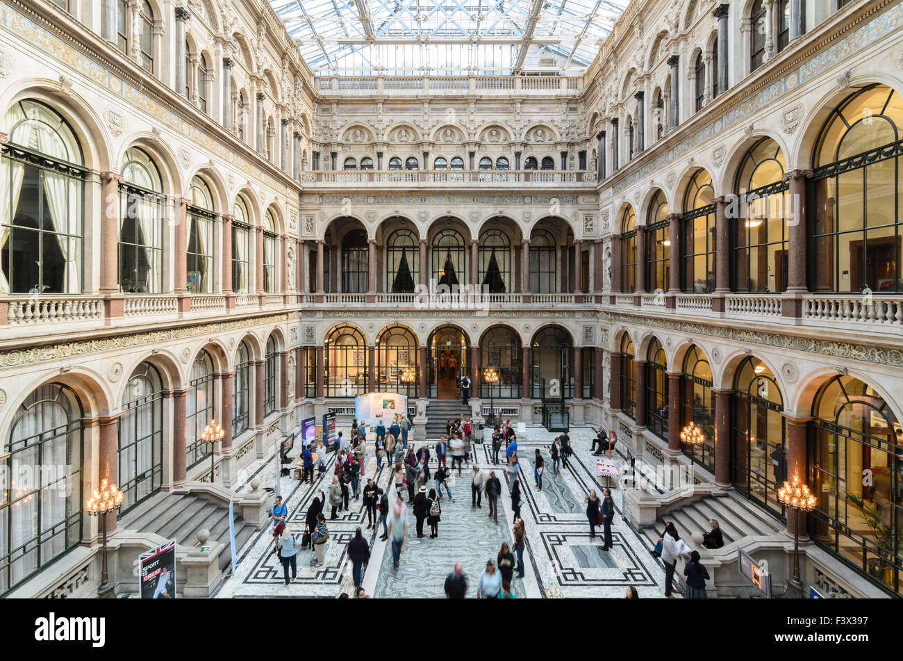 The Durbar Court inside the Foreign and Commonwealth Office, Lancaster House, Whitehall, London, England, U.K. - Stock Image