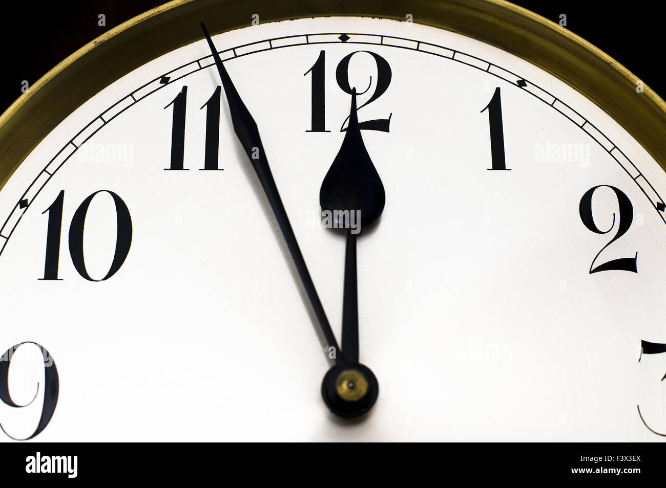 Five minutes to noon. - Stock Image