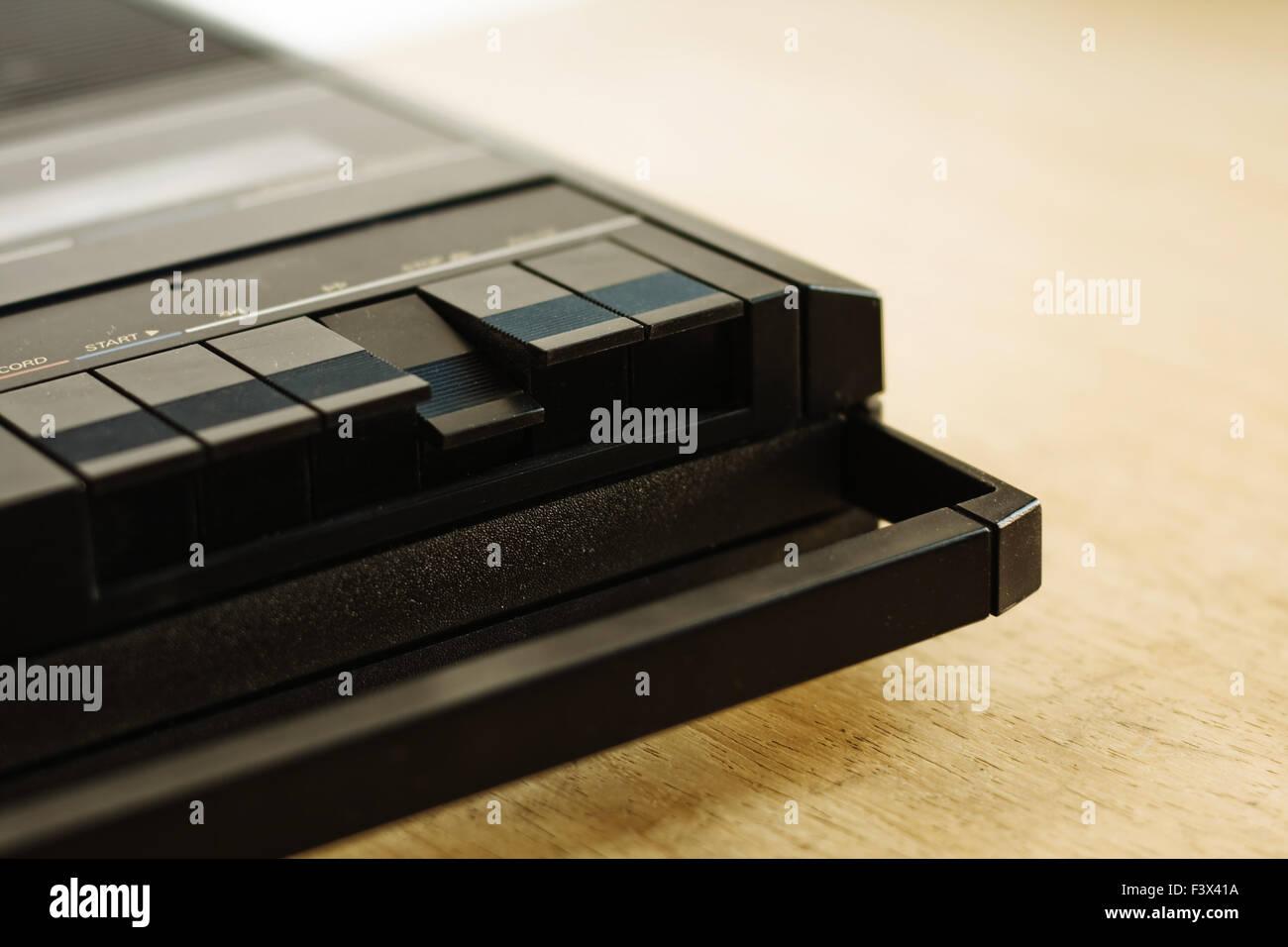 cassette tape recorder - Stock Image