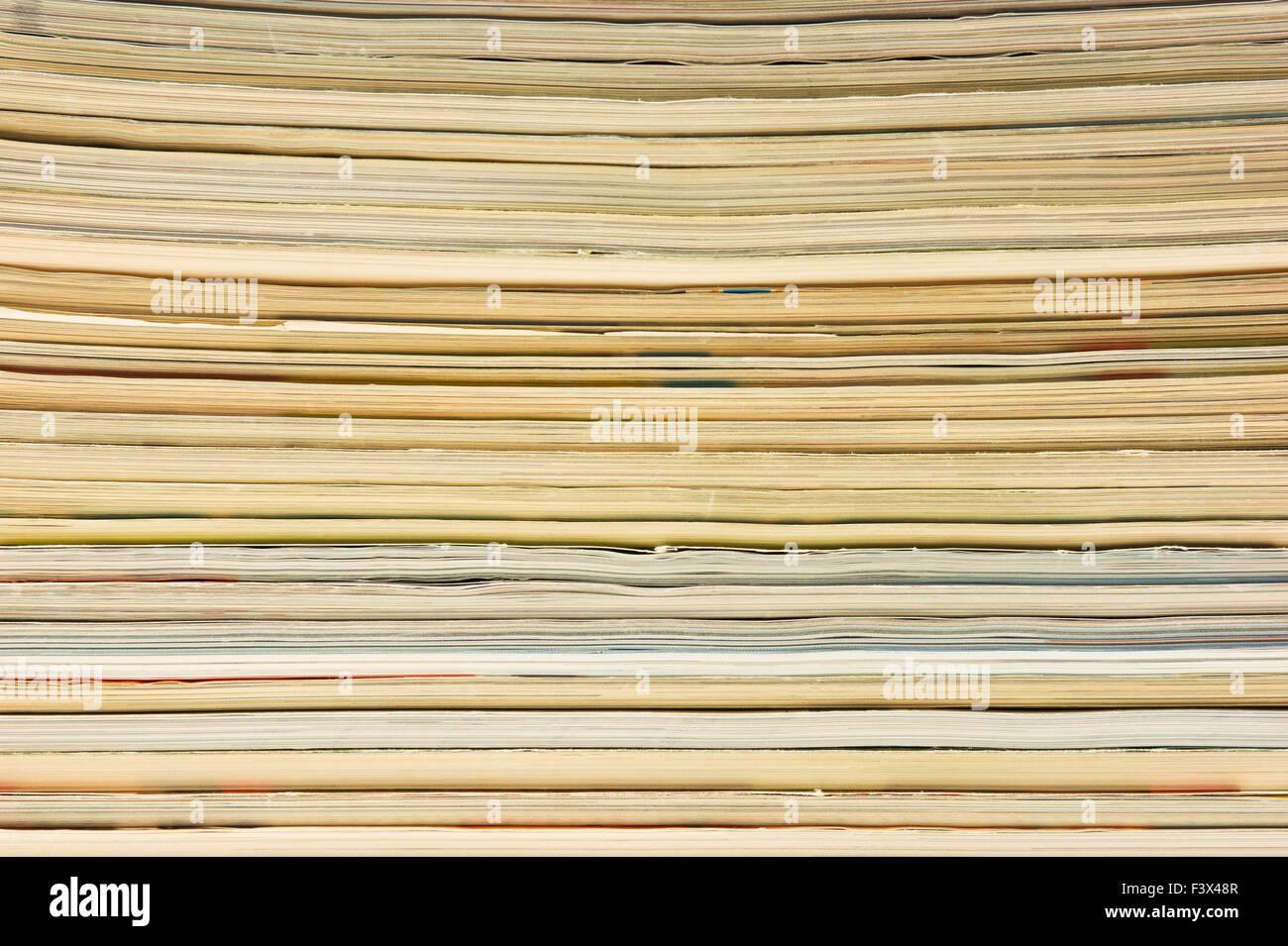 stack of magazines - Stock Image