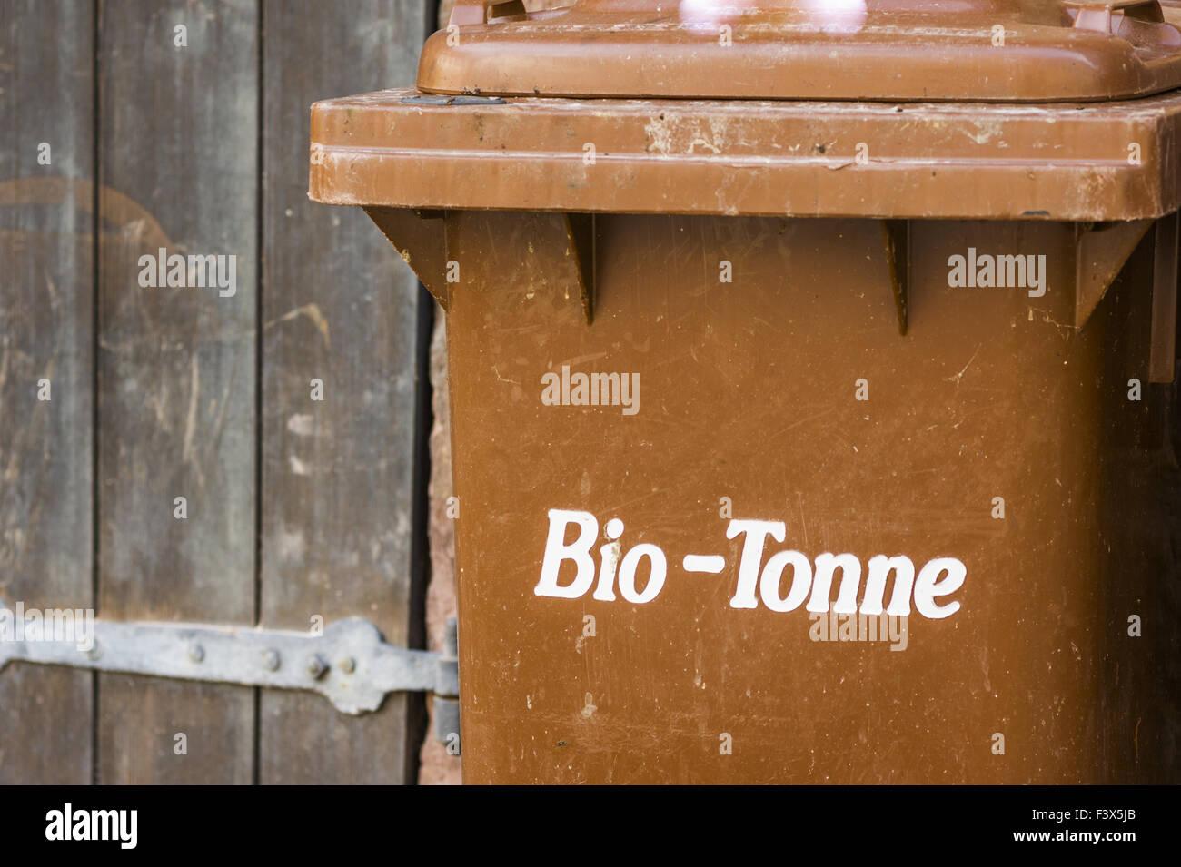 organic waste trash can Stock Photo