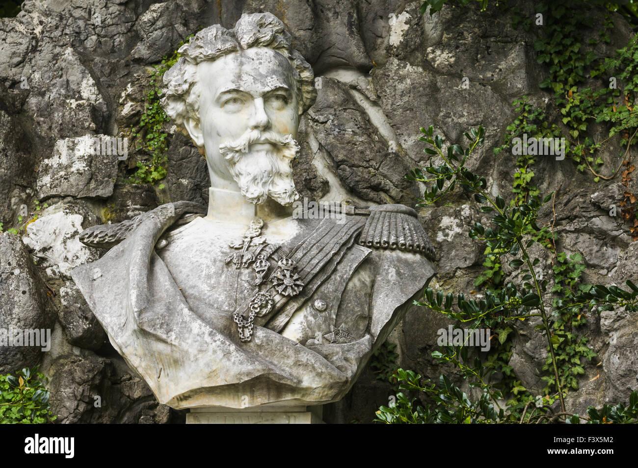 monument showing ludwig II of bavaria - Stock Image