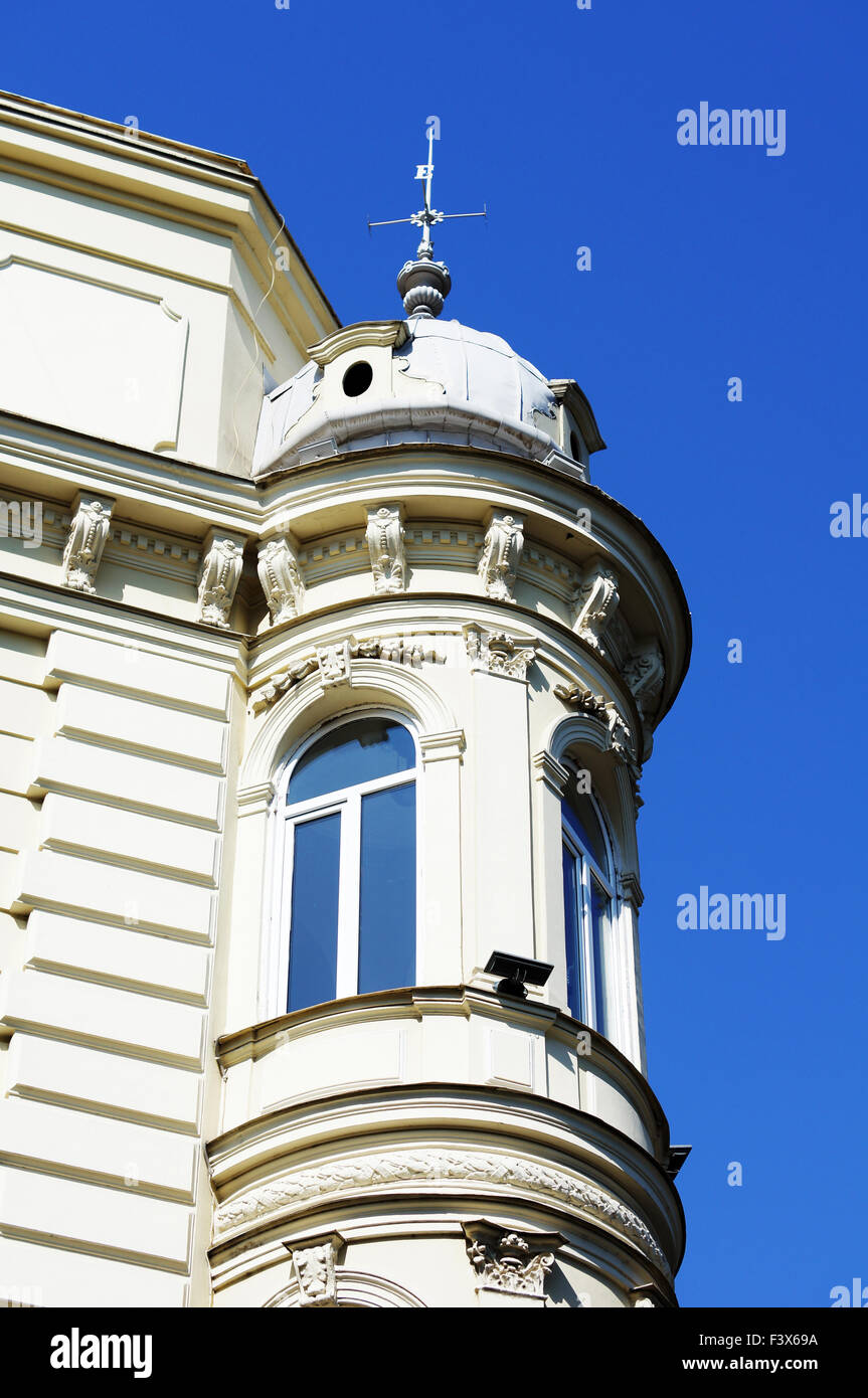 Art-Nouveau facade in Tbilisi Old town Stock Photo