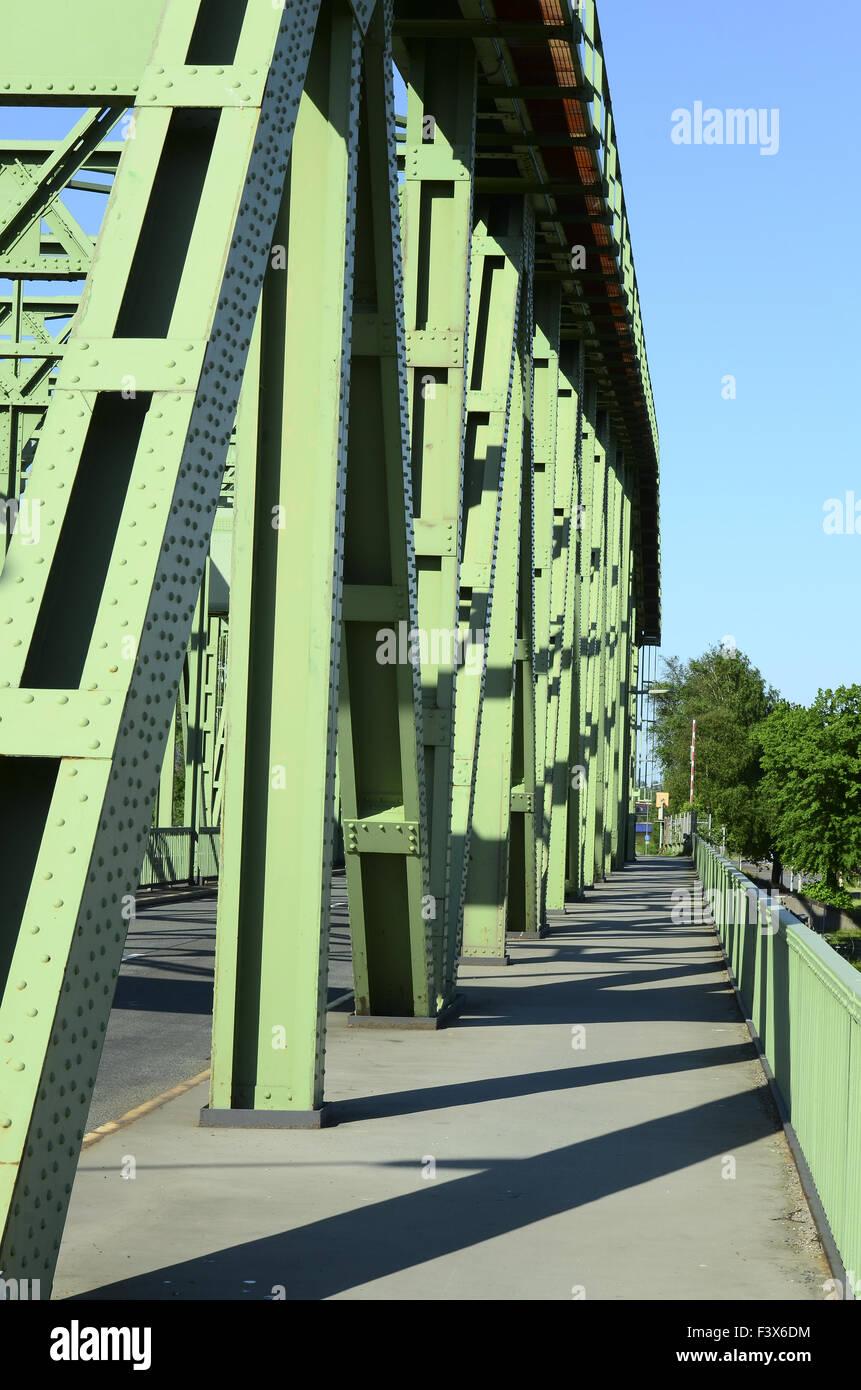 Bridge out of steel Stock Photo