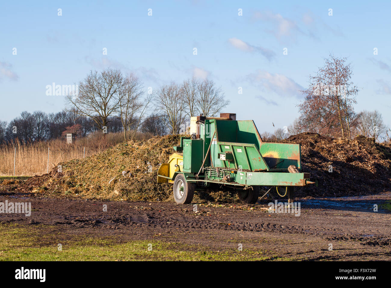 Agriculture wood turner Stock Photo