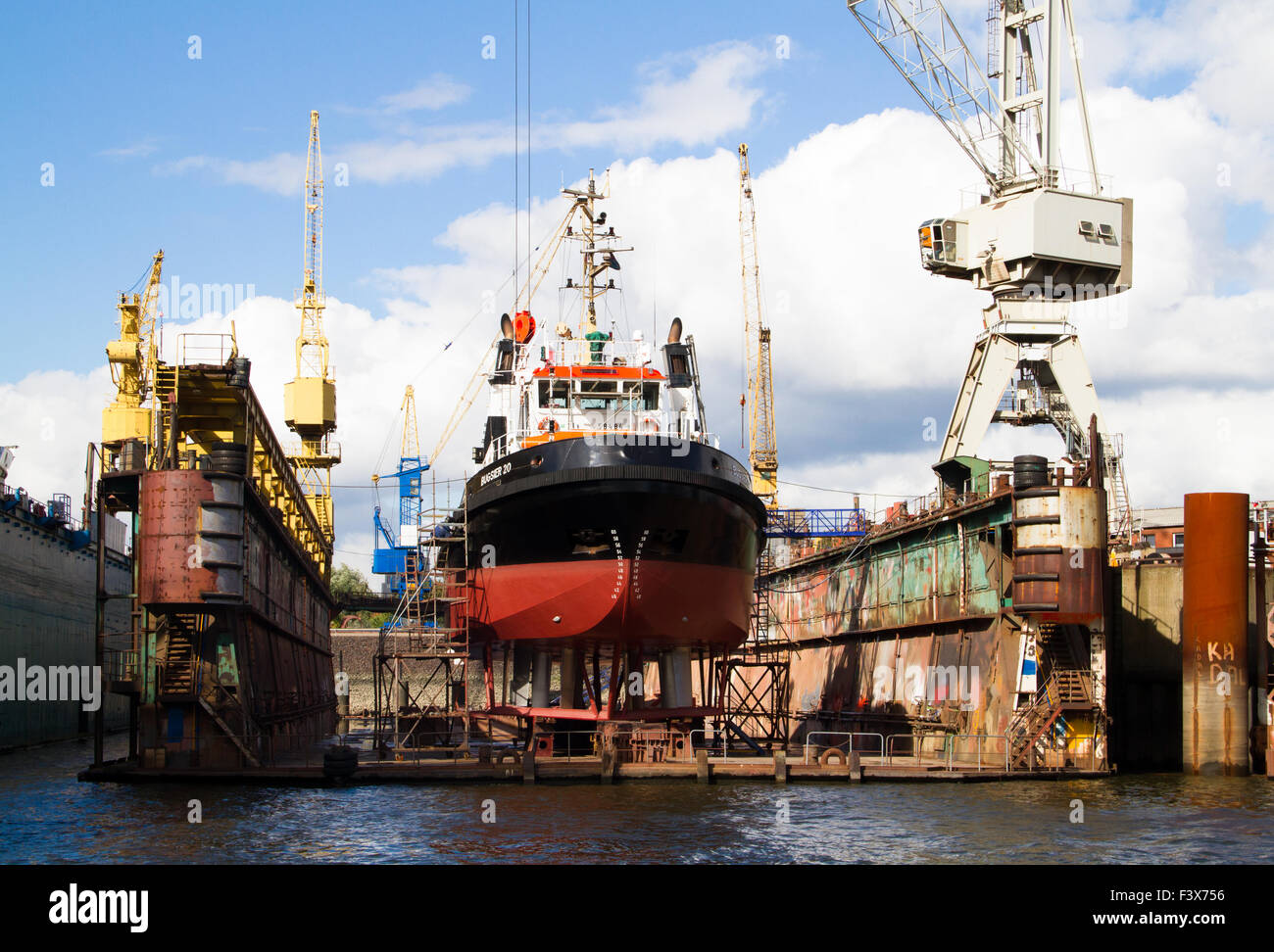 Icebreakers in the Dock - Stock Image