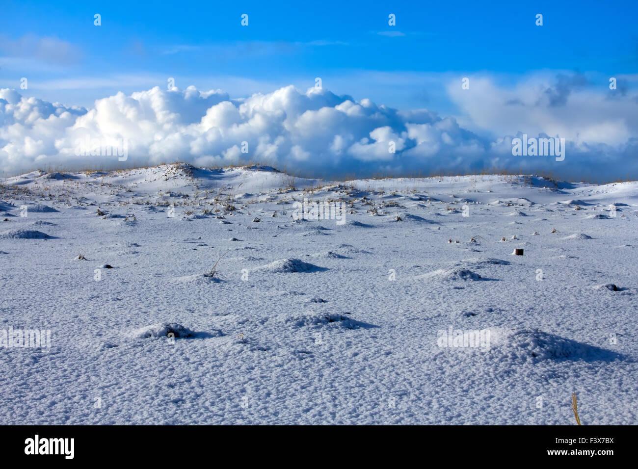Snow distances 3 - Stock Image
