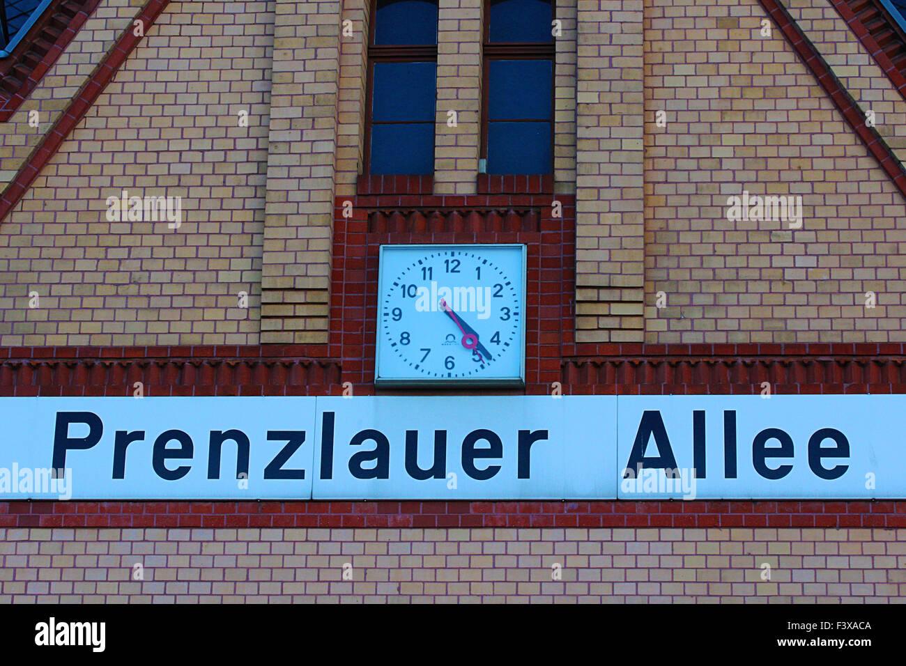 station in berlin prenzlauer berg - Stock Image
