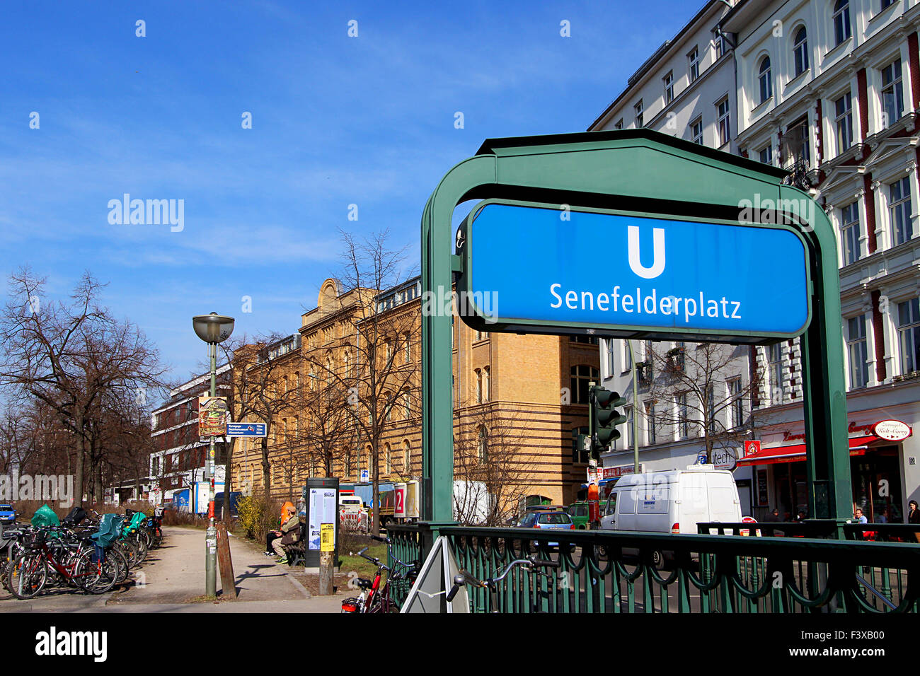 undergound station in berlin - Stock Image