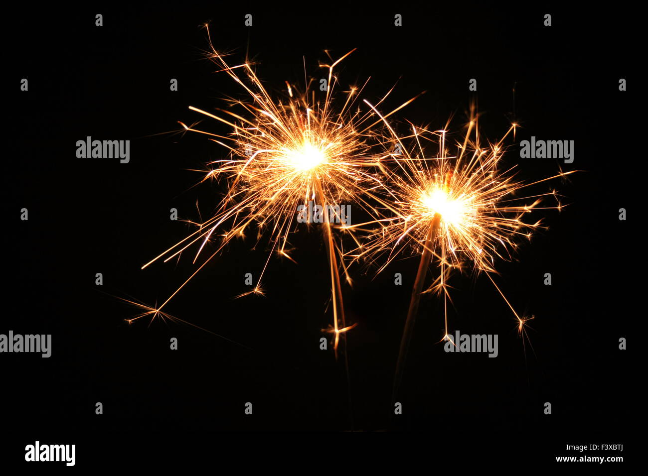 Two Sparklers - Stock Image